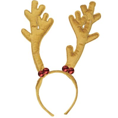 Plush Reindeer Antlers Jingle Bells