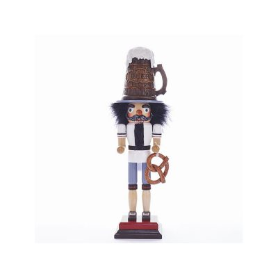 18 Inch Beer Man with Pretzel Wooden Hollywood Nutcracker