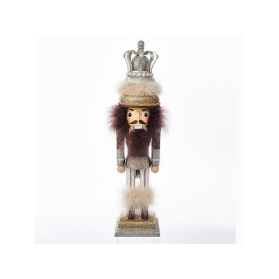 18 Inch King w Fur Trim Wooden Hollywood Nutcracker