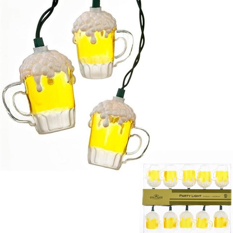10 Beer Mug Party Light Set - Indoor Outdoor