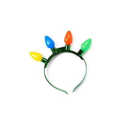 Battery Operated Light-up Large Christmas Bulb Headband