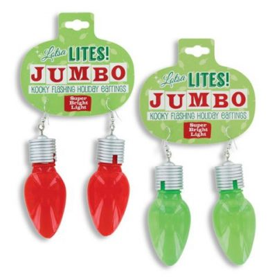Christmas Light-up Mutli-function Jumbo -Bulb-Earrings