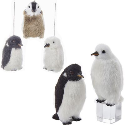 Furry Penguin Ornament Christmas Tree Decoration