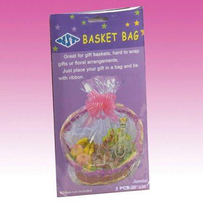 Clear Plastic Jumbo Basket Bags