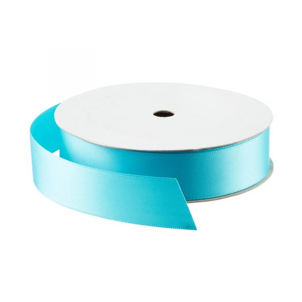 Turquoise Double Faced Satin Ribbon