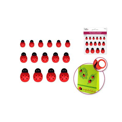 Assorted Mini Wood Ladybugs