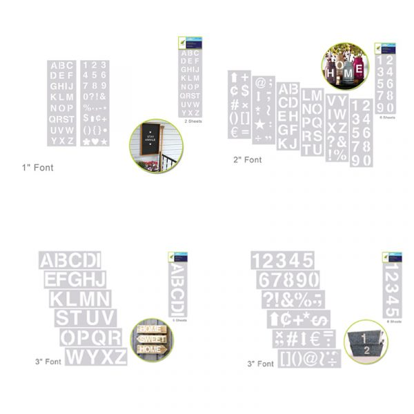 Clear Stencil Sets