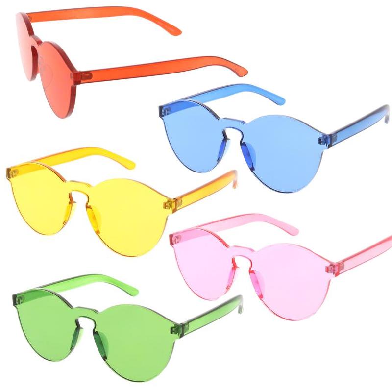 Transparent Rimless Sunglasses