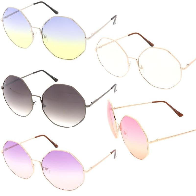 Large Round Angle Lens Sunglasses