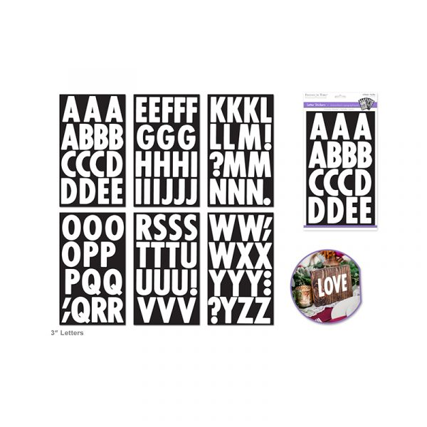 3 Inch Letter Stickers
