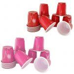 Solid Color Plastic Party Shot Cups