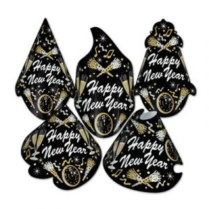 Happy New Year Tymes Hat Black Silver