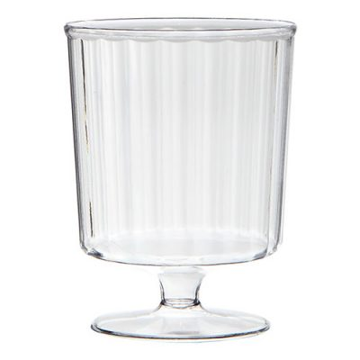 5 Ounce Stemmed Clear Plastic Wine Glass