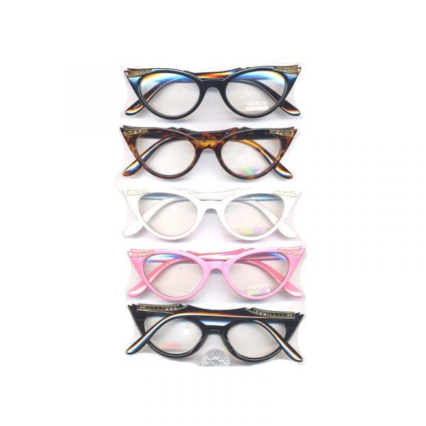 Vintage Clear Lens Eyeglasses with Rhinestones