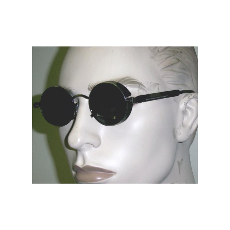 Dark Lens Round Steampunk Eyeglasses