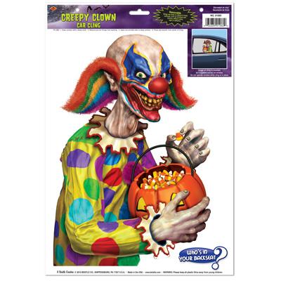 Creepy Clown Car Cling