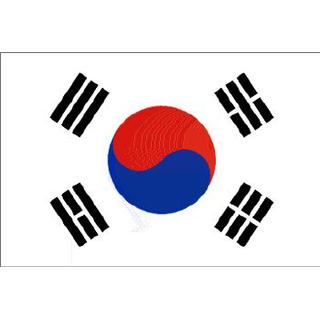 South Korea Polyester Flag on a Stick