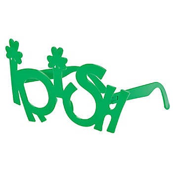Green Plastic Irish Eyeglasses