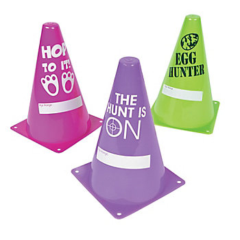 Plastic Easter Egg Hunt Traffic Cone