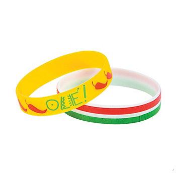 Assorted Rubber Fiesta Bracelets