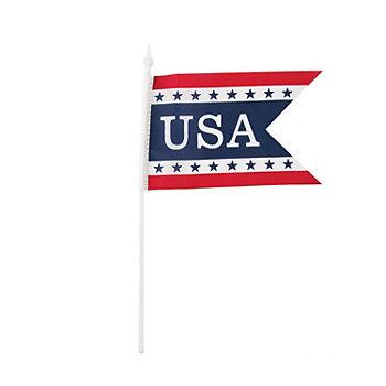 Fabric USA Pennant Shape Flag