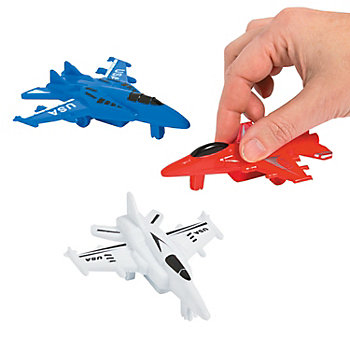 Party Plastic Pullback USA Fighter Jet