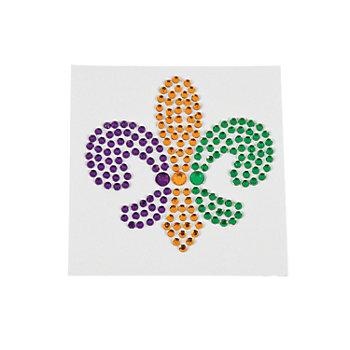 Mardi Gras Rhinestone Fleur De Lis Body Jewel