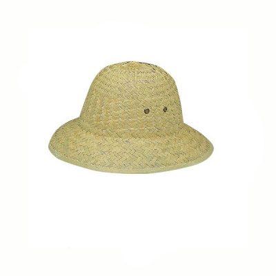 Natural Straw Pith Helmet Hat