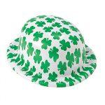 Printed Shamrocks Plastic Derby Hat