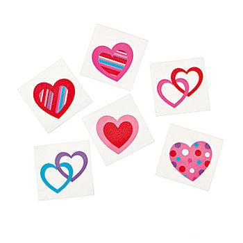 Small Fun Hearts Temporary Tattoos