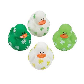 Rubber Ducks with Shamrocks