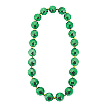 Round Metallic Jumbo Faceted Bead Necklace