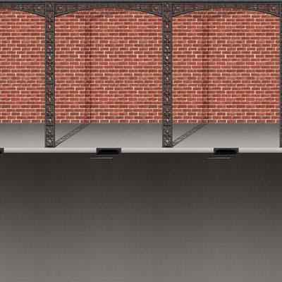 Mardi Gras Brick Wall and Street Backdrop