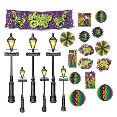 Mardi Gras Decor and Street Light Props
