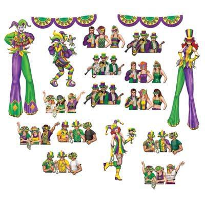 Mardi Gras Reveler Props