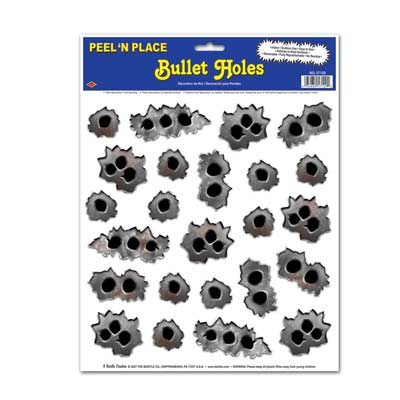 Bullet Holes Peel N Place