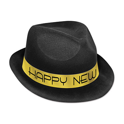 Black Chairman Hat Gold or Silver Band
