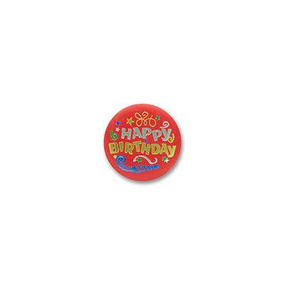 Happy Birthday Satin Button