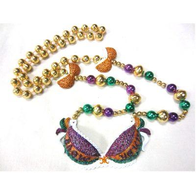 Round Metallic Bead Necklace Show Your Bra