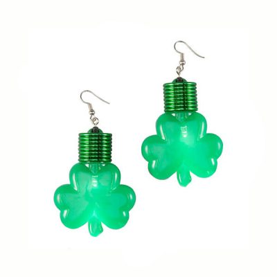 Light Up Jumbo Shamrock Earrings