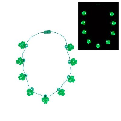 Jumbo Light Up Shamrock Necklace