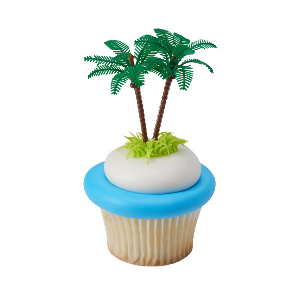 Party Plastic Double Palm Tree