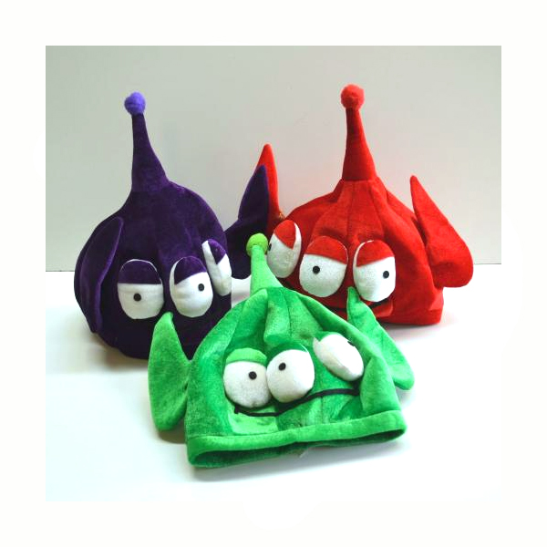 Velvet Fabric 3 Eyed Alien Hat