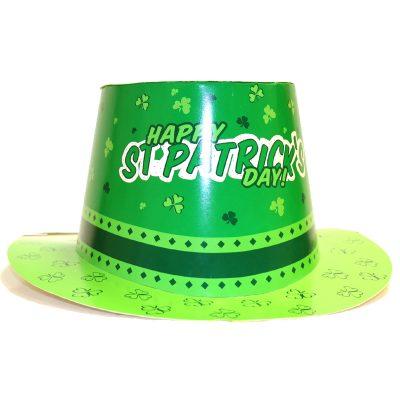 Saint Patricks Printed Cardboard Top Hat