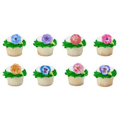 Party Plastic Garden Flower Rings