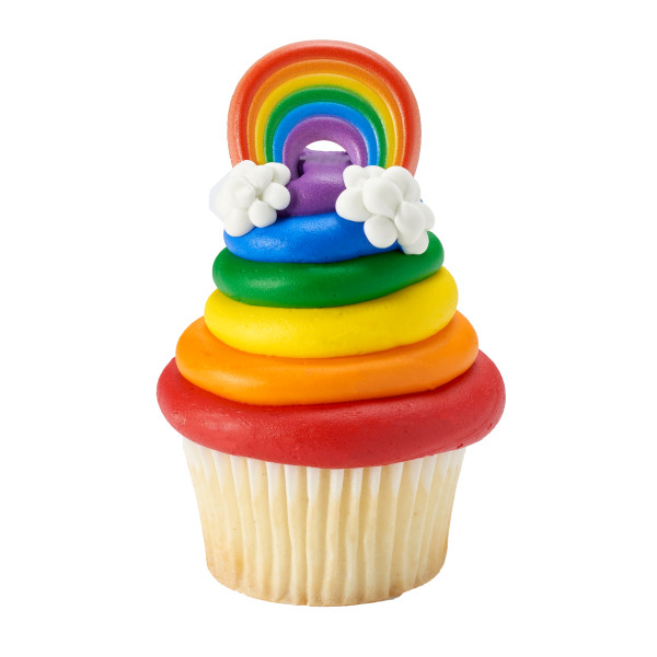 Party Plastic Rainbow Rings