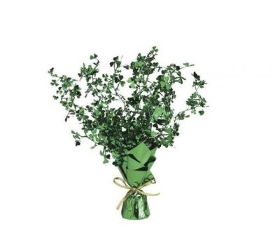 Metallic Vinyl Shamrock Spray Centerpiece