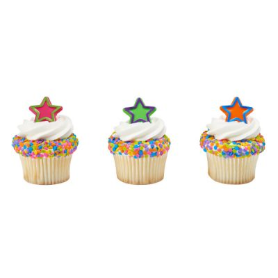 Party Plastic Foil Trim Star Rings