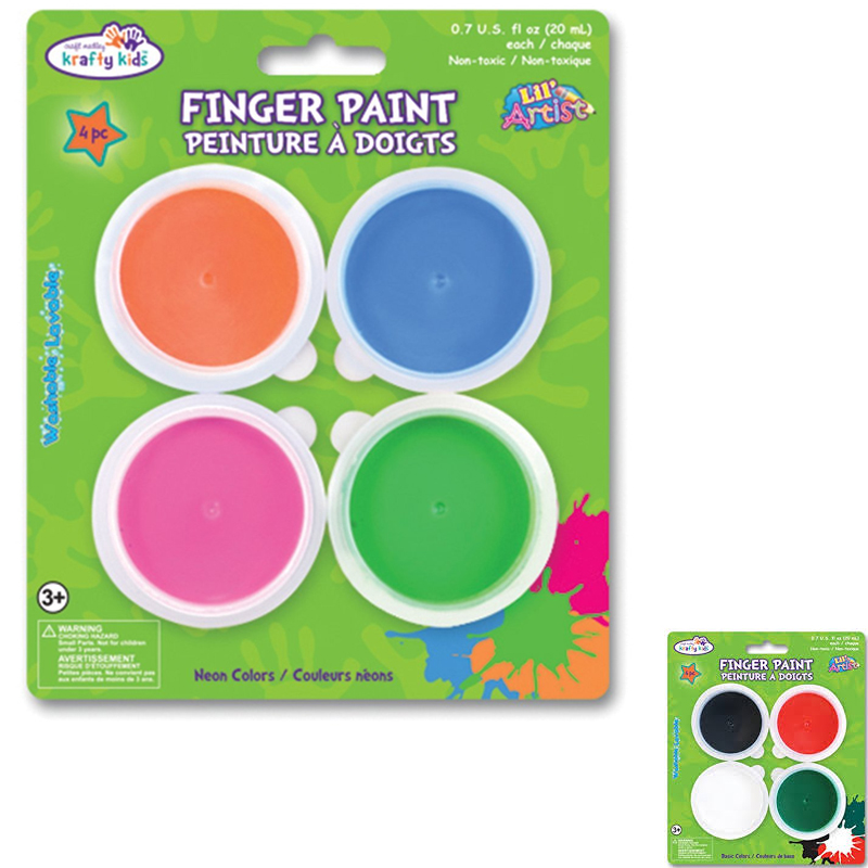 Kids Craft Finger Paints