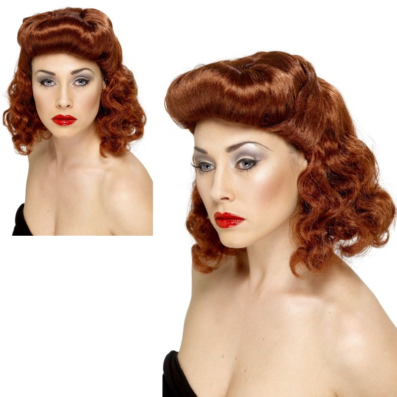 Pin Up Girl Wig Auburn